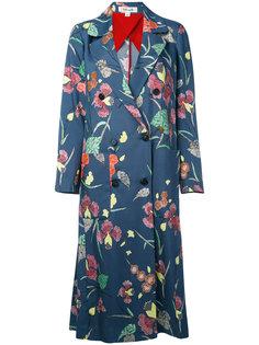 двубортное пальто с цветочным принтом Diane Von Furstenberg