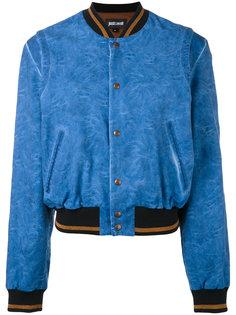 куртка-бомбер с принтом на спине Just Cavalli