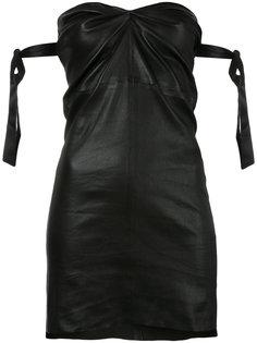 приталенное платье без бретелей Rta