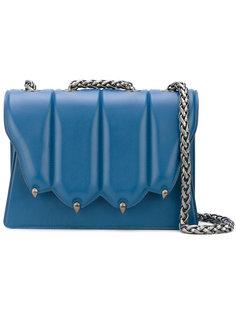 сумка на плечо с фигурным откидным верхом Marco De Vincenzo