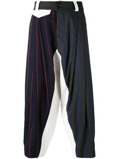 укороченные брюки лоскутного кроя  Vivienne Westwood