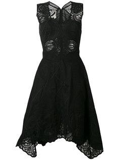 embroidered flared skirt dress Jonathan Simkhai