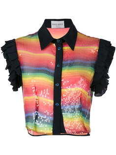 sequin cropped shirt Daizy Shely