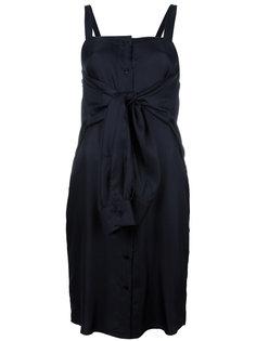 платье с декоративным узлом спереди Maison Margiela