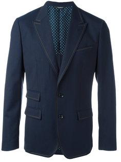 пиджак с простроченной окантовкой Dolce & Gabbana