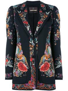 пиджак с цветочным принтом Roberto Cavalli