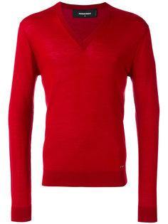 пуловер с V-образным вырезом Dsquared2