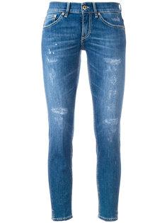 укороченные джинсы скинни с рваными деталями Dondup