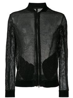 куртка-бомбер с тисненой отделкой  Salvatore Santoro