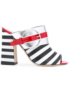 полосатые мюли Deco Colour-Block & Stripes Pollini