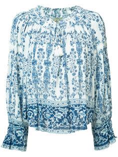 блузка с принтом в крестьянском стиле Sea