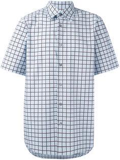 рубашка с решетчатым принтом Marni