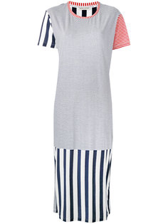 полосатое платье-футболка Each X Other