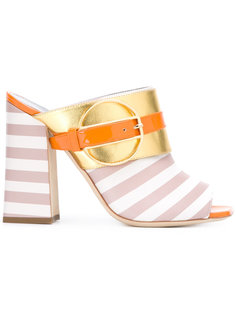 босоножки Deco Colour-Block & Stripes Pollini