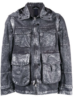 куртка с капюшоном и эффектом металлик  Stone Island Shadow Project