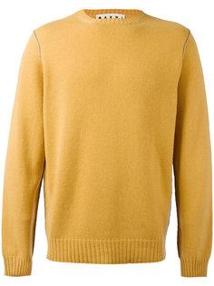 свитер с контрастной строчкой  Marni