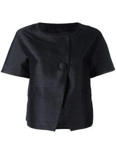 укороченный пиджак без воротника  Herno