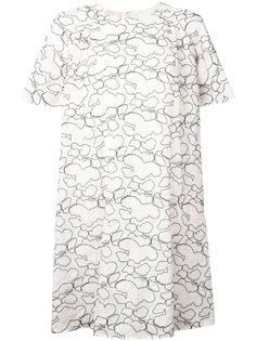 платье-футболка с абстрактным вышитым узором Giamba