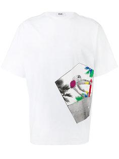 футболка с принтом Skate MSGM