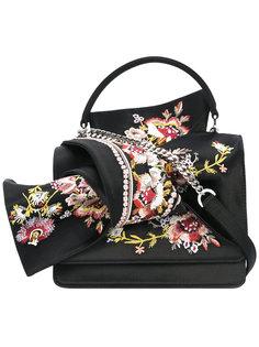 сумка-тоут с цветочной вышивкой Nº21