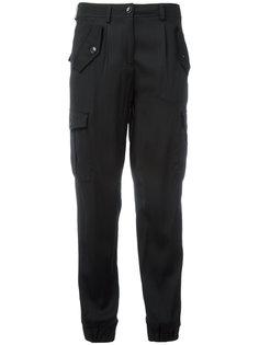 укороченные брюки с узкими манжетами Boutique Moschino