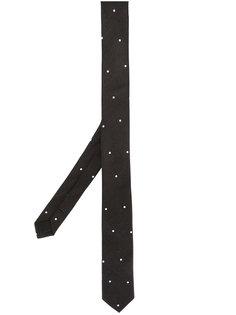 тонкий галстук с вышивкой в горох Saint Laurent