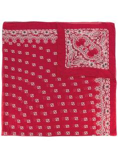 шарф с узором в стиле банданы Saint Laurent