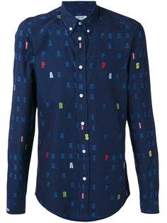 рубашка с принтом букв Kenzo