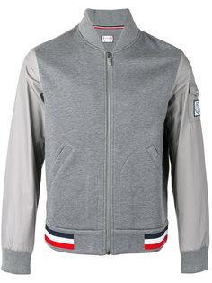 куртка бомбер с контрастными рукавами Moncler Gamme Bleu