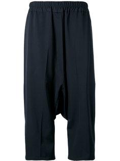 укороченные брюки с заниженным шаговым швом Jil Sander