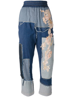 джинсы с нашивками Antonio Marras
