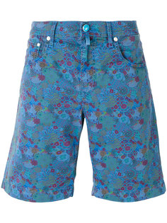 шорты с цветочным принтом  Jacob Cohen