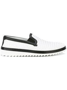 кроссовки с контрастной оторочкой Dolce & Gabbana
