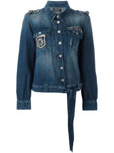 джинсовая куртка с вышивкой Twin-Set