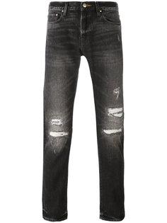 джинсы кроя скинни с рваными деталями Ps By Paul Smith