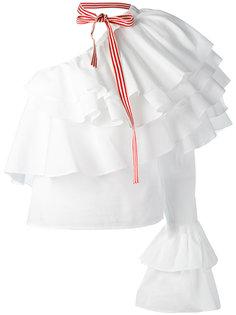 асимметричная блузка с оборками Rosie Assoulin