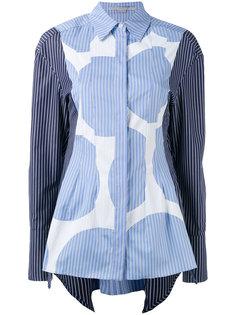рубашка с контрастным принтом Stella McCartney