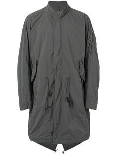 mandarin neck loose-fit coat Attachment