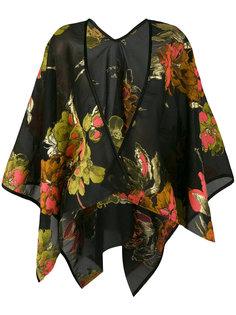 свободный пиджак с цветочным принтом  Ermanno Gallamini