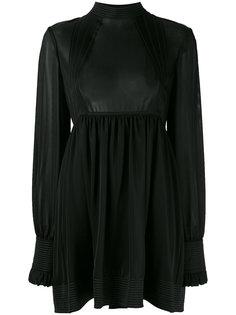 платье с длинными рукавами и открытой спиной Paco Rabanne