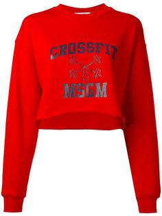 укороченная толстовка Crossfit MSGM