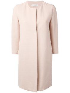 пальто без воротника с рукавами три четверти  Harris Wharf London