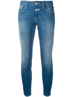 облегающие укороченные джинсы Closed