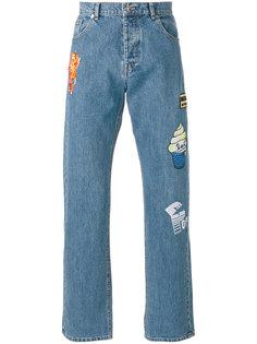 джинсы с заплатками Kenzo