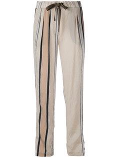 прямые брюки с полосками Roberto Collina
