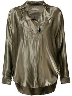 Блуза с эффектом металлик Nina Ricci