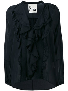 pleated blouse  8pm