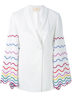 embroidered sleeve blazer Sara Battaglia