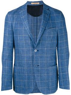 woven check blazer  Corneliani