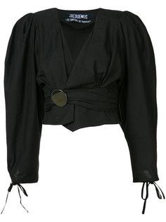 укороченная драпированная блузка Jacquemus